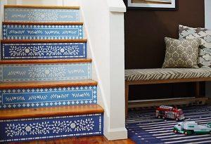 A lépcsőt is bátran dekoráljuk!