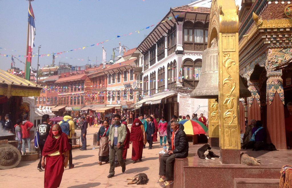 Katmandu utcakép (szerző felvétele)