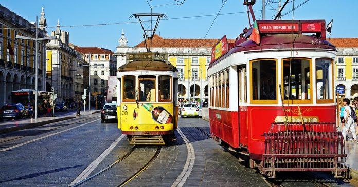 Lisszabon jellegzetes villamosai