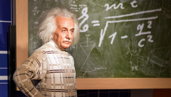 Albert Einstein viaszból készült figurája